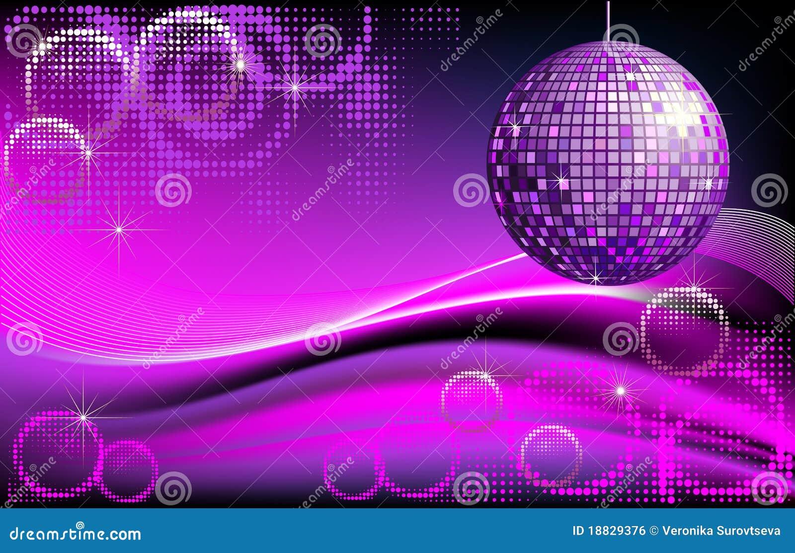 Fondo de la disco bola ilustraci n del vector imagen de - Bola de discoteca de colores ...