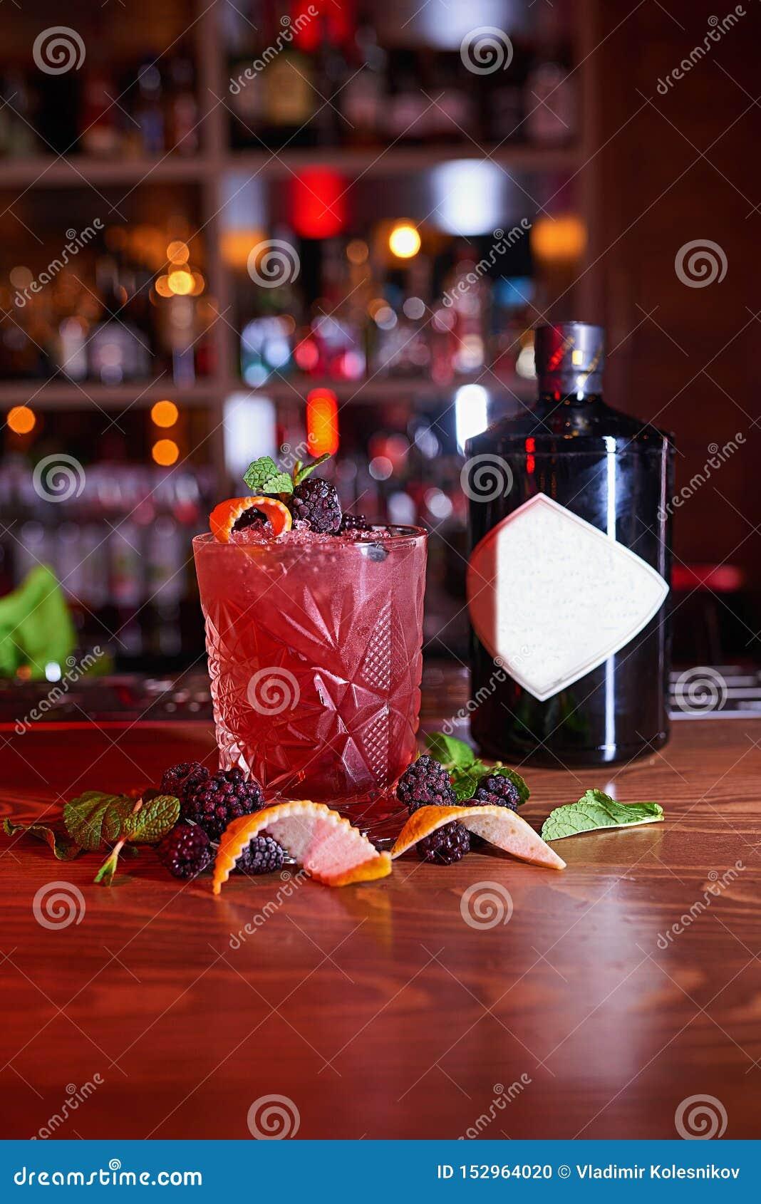 Fondo de la falta de definición del cóctel del alcohol