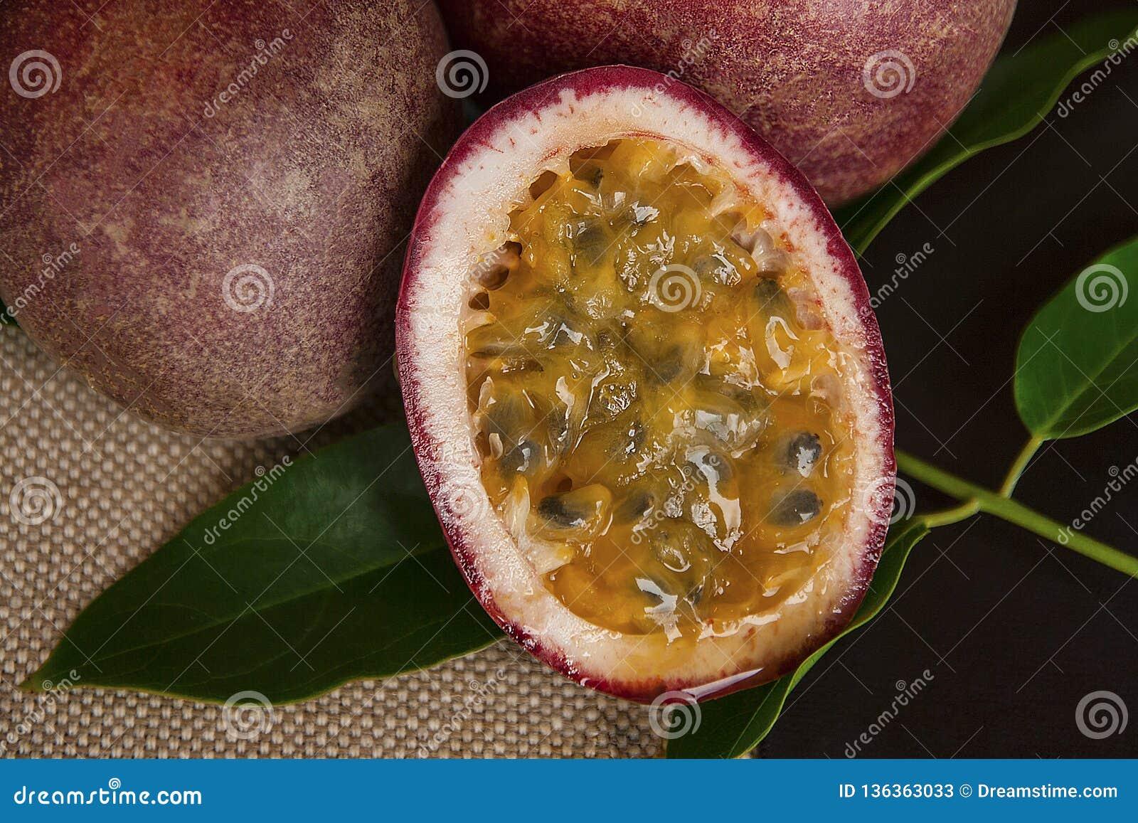 Fondo de la fruta de la pasión