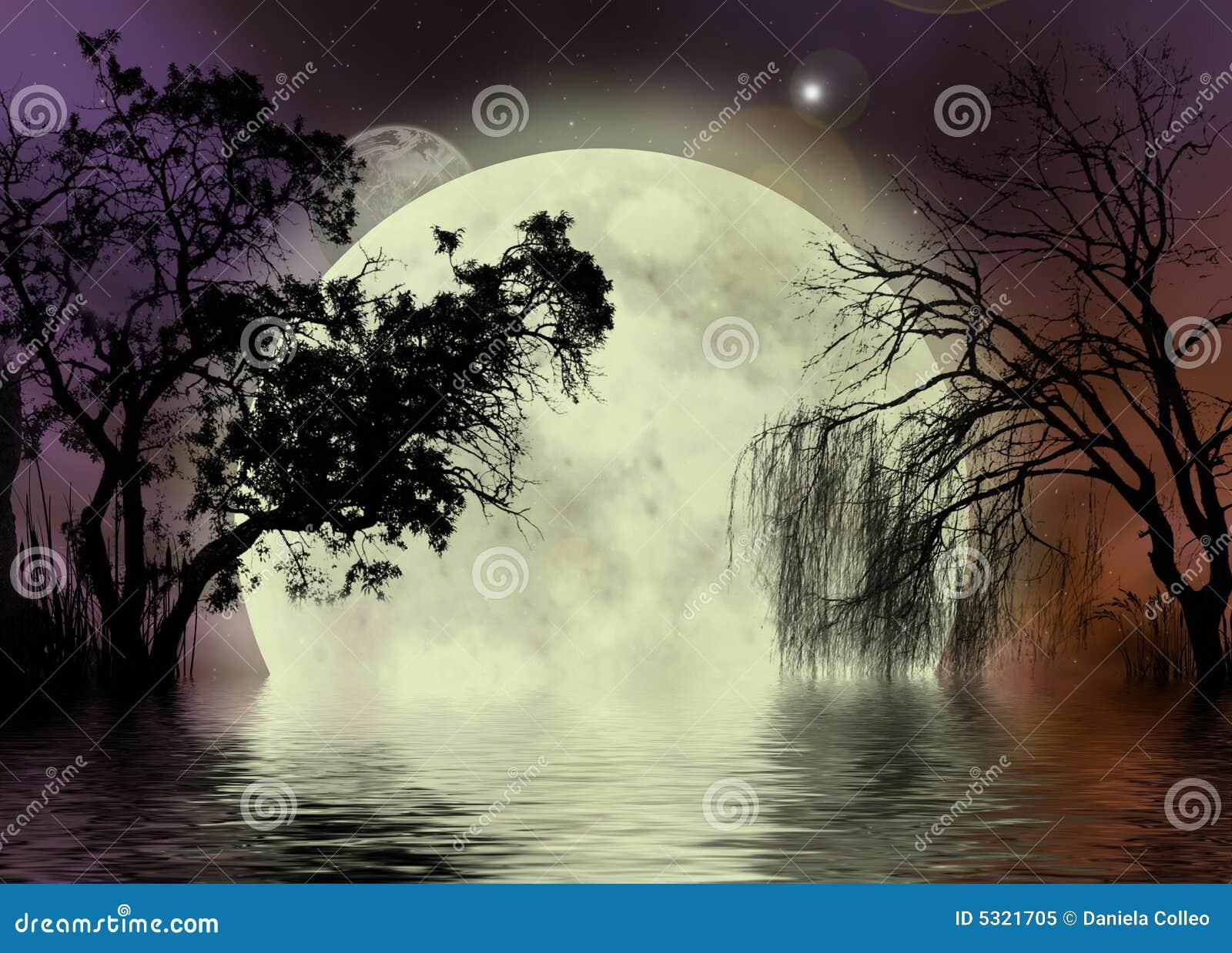 Fondo de la hada de la luna