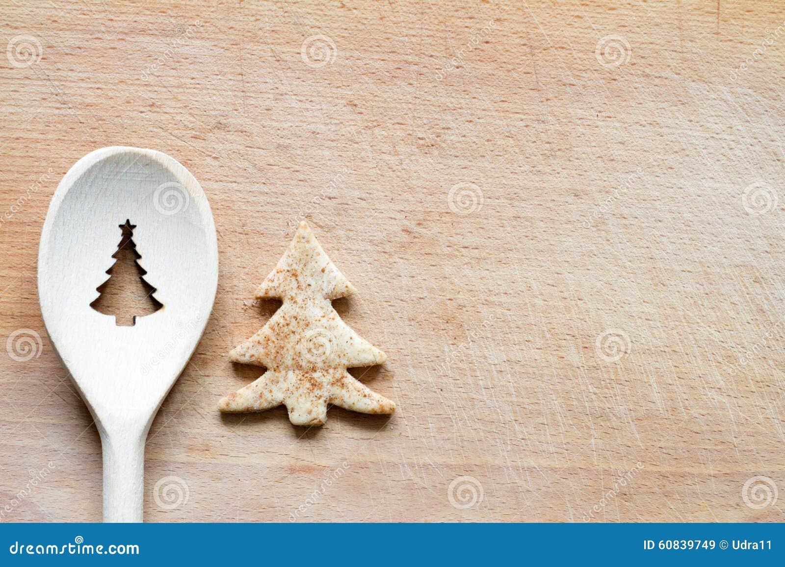 Fondo de la hornada de la comida del extracto de la muestra del árbol de navidad