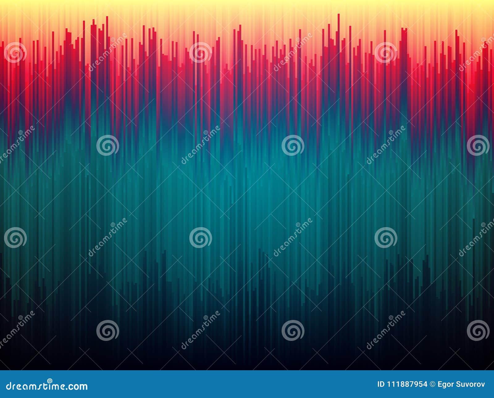 Fondo de la interferencia Distorsión de los datos de imagen Líneas abstractas concepto del color Rayas verticales de Glitched For