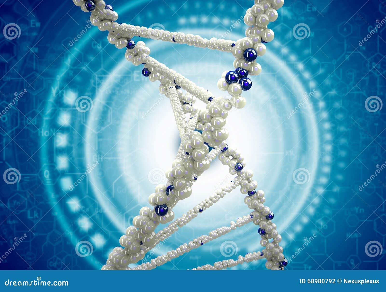 Fondo de la investigación de la DNA