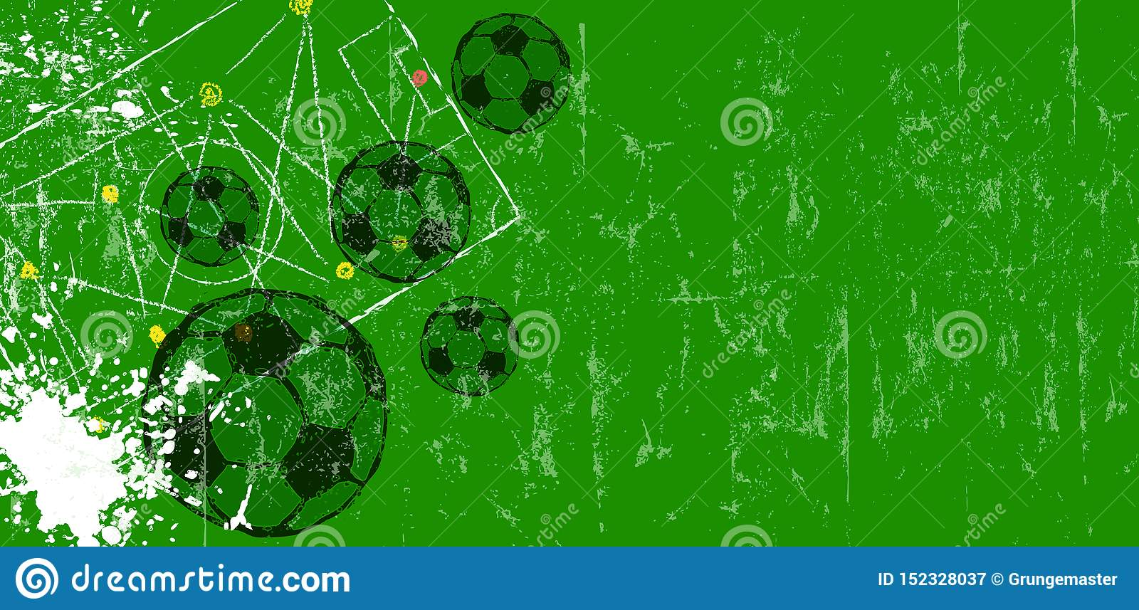 Fondo de la maqueta del fútbol, del balón de fútbol, del fútbol y del fútbol, espacio de la copia libre, vector