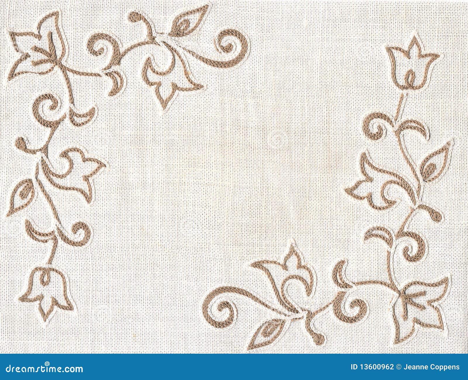 Fondo De La Materia Textil Del Bordado. Foto de archivo - Imagen de ...