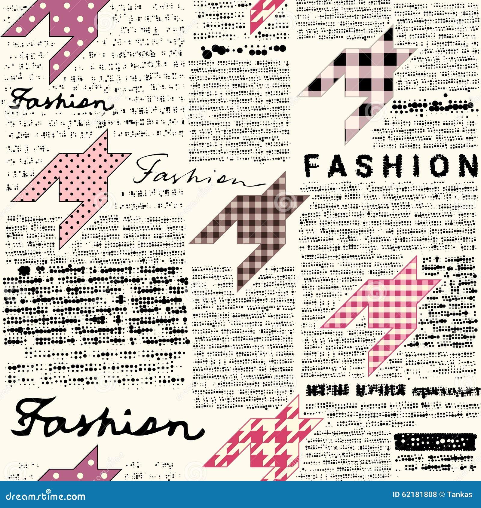 Fondo de la moda del peri dico ilustraci n del vector for Papel pintado imitacion periodico