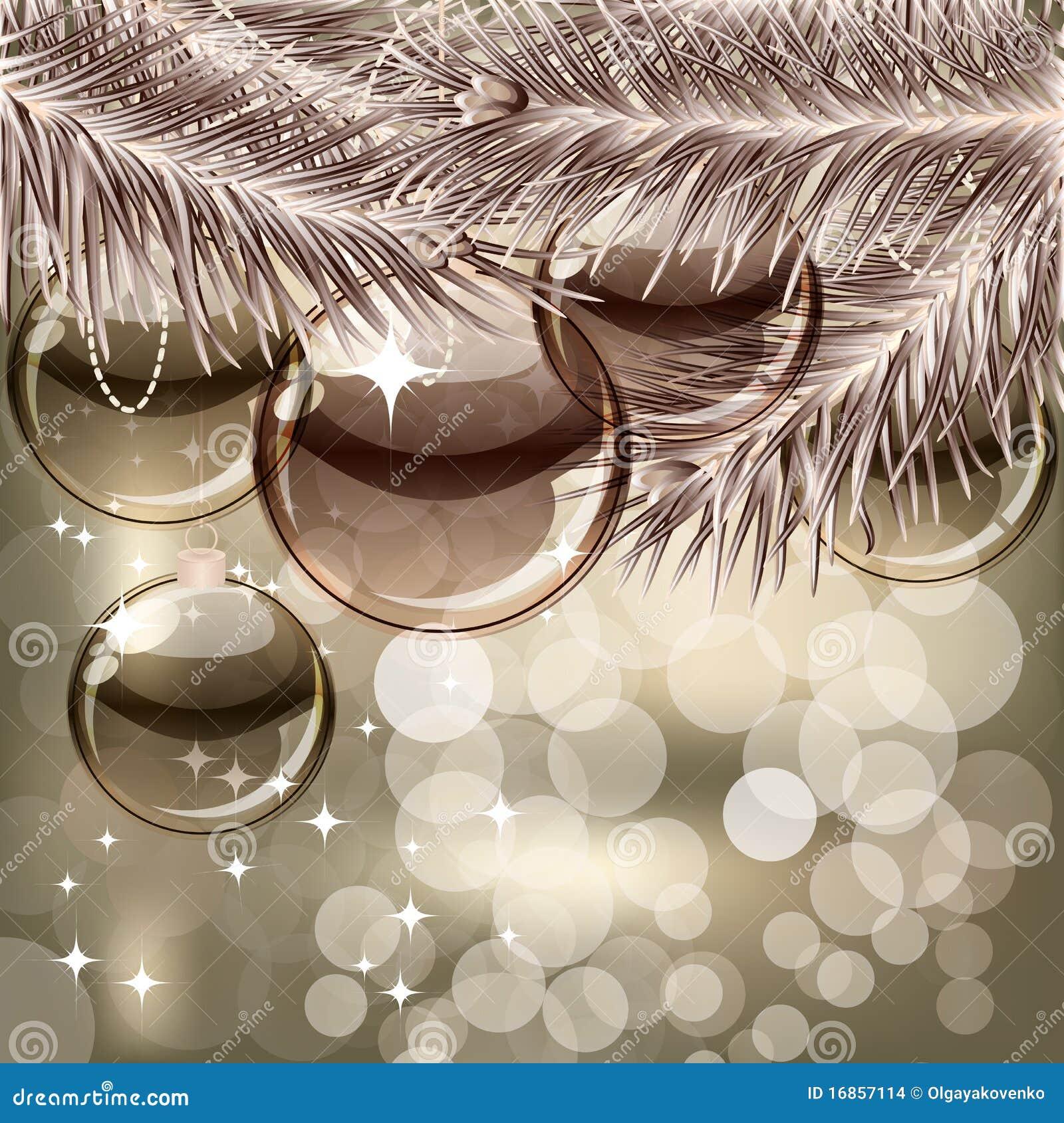 Fondo de la navidad con las bolas transparentes imagenes - Bolas navidad transparentes ...