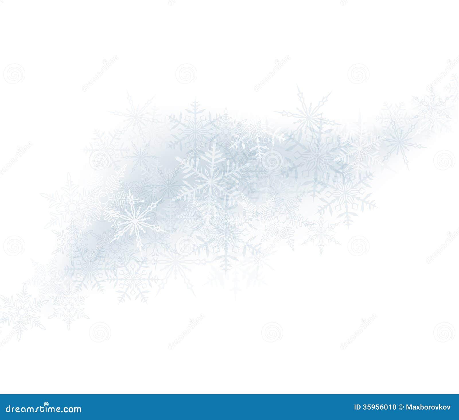 Fondo de la Navidad con los copos de nieve crystallic.