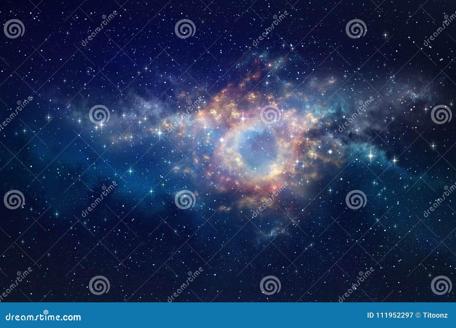 Fondo de la nebulosa del espacio