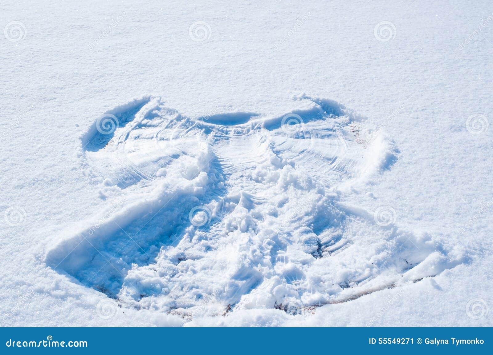 Fondo De La Nieve Blanca Con El Marco Del ángel Imagen de archivo ...
