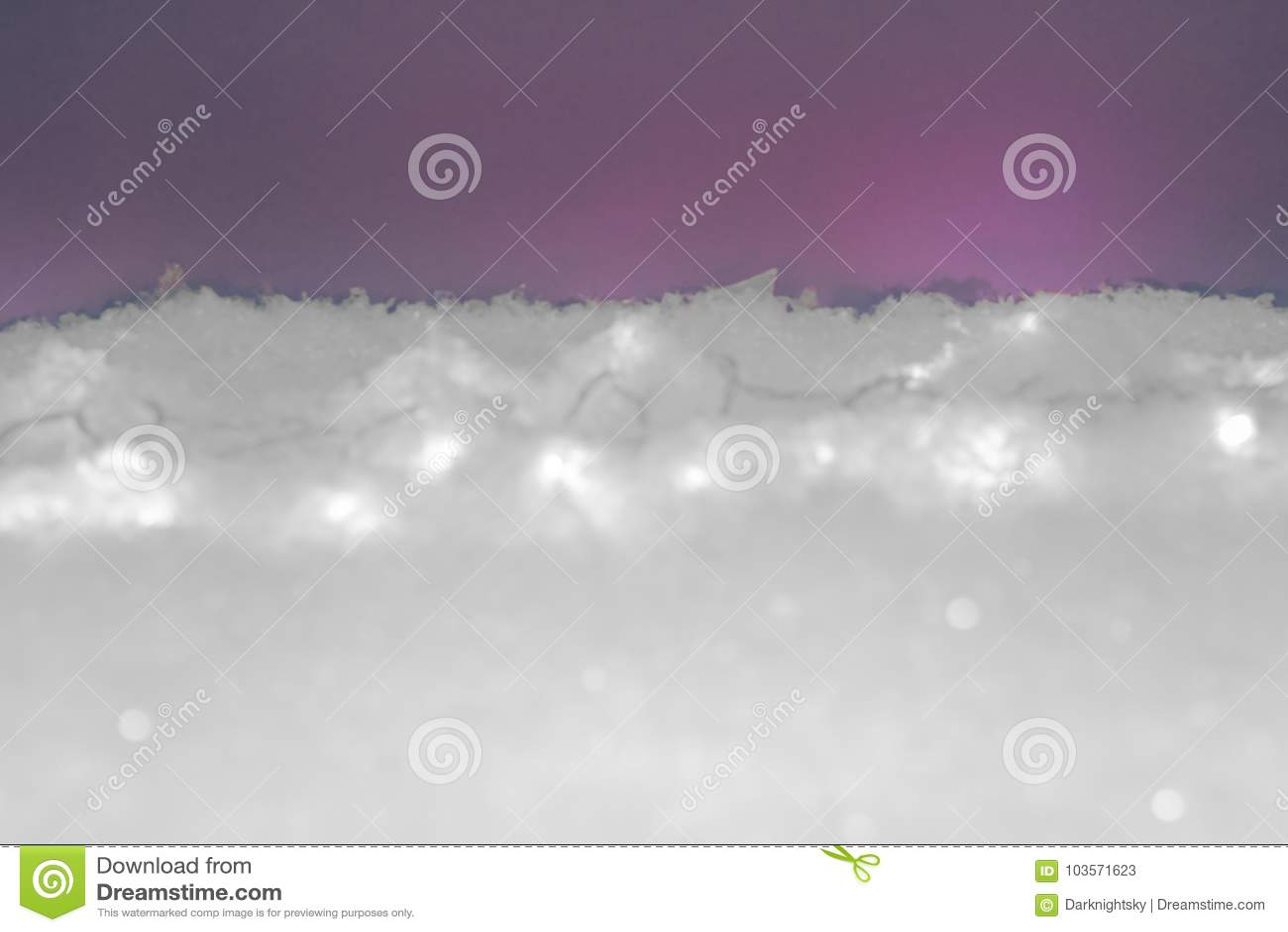 purpura nevada o nieve roja