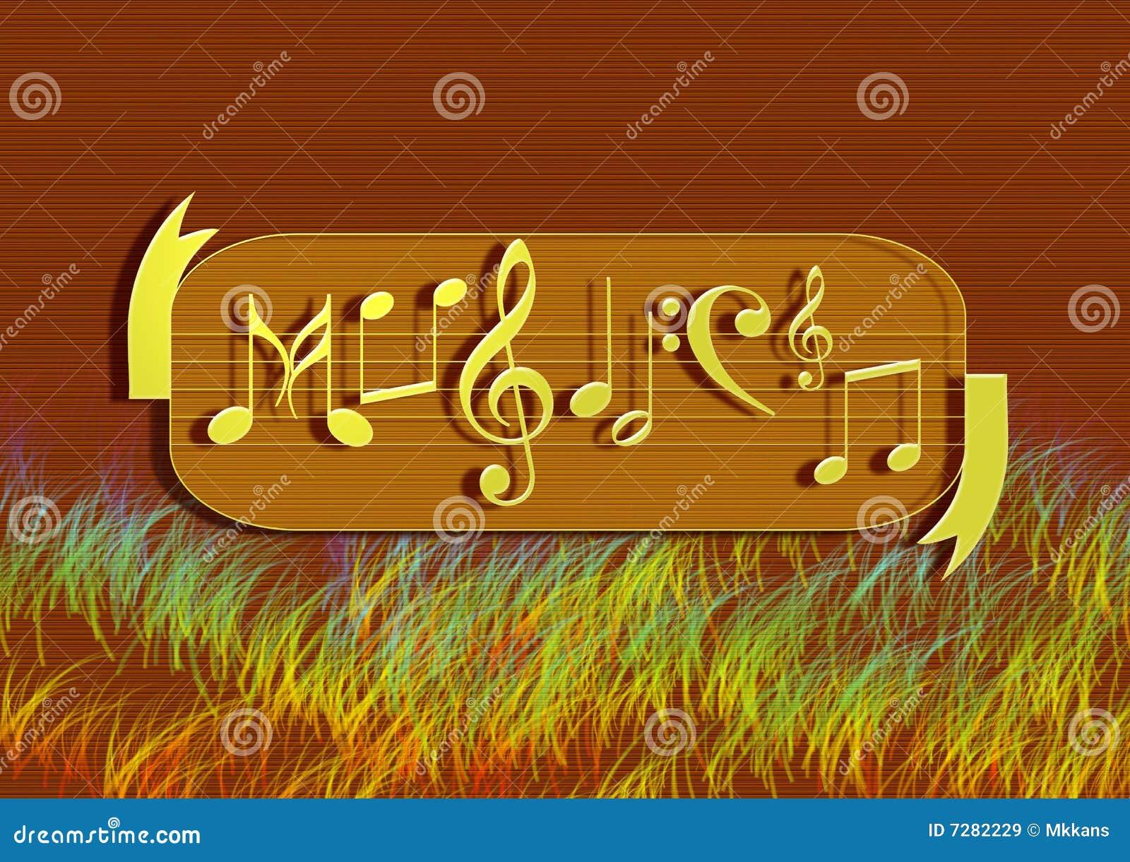 Fondo de la nota de la música