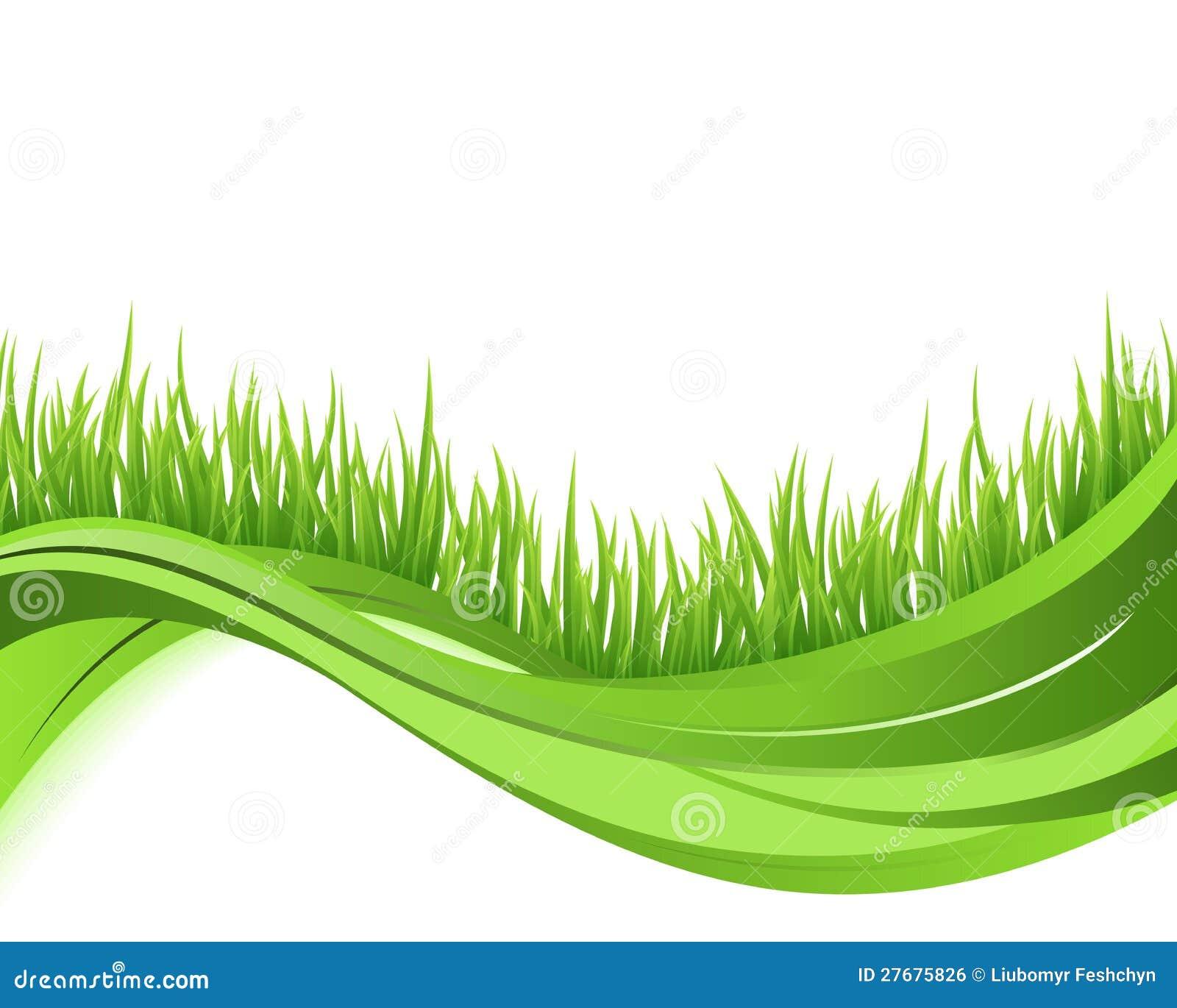 Fondo de la onda de la naturaleza de la hierba verde
