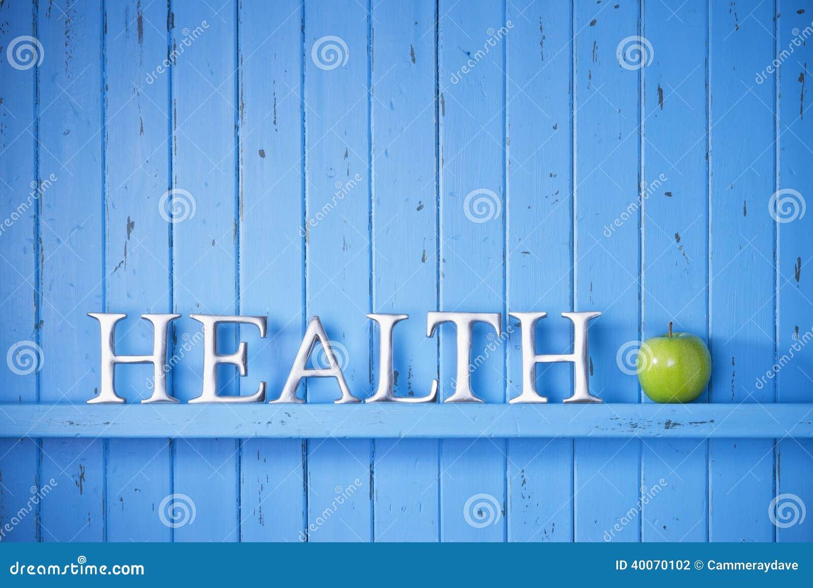Fondo de la palabra de la salud