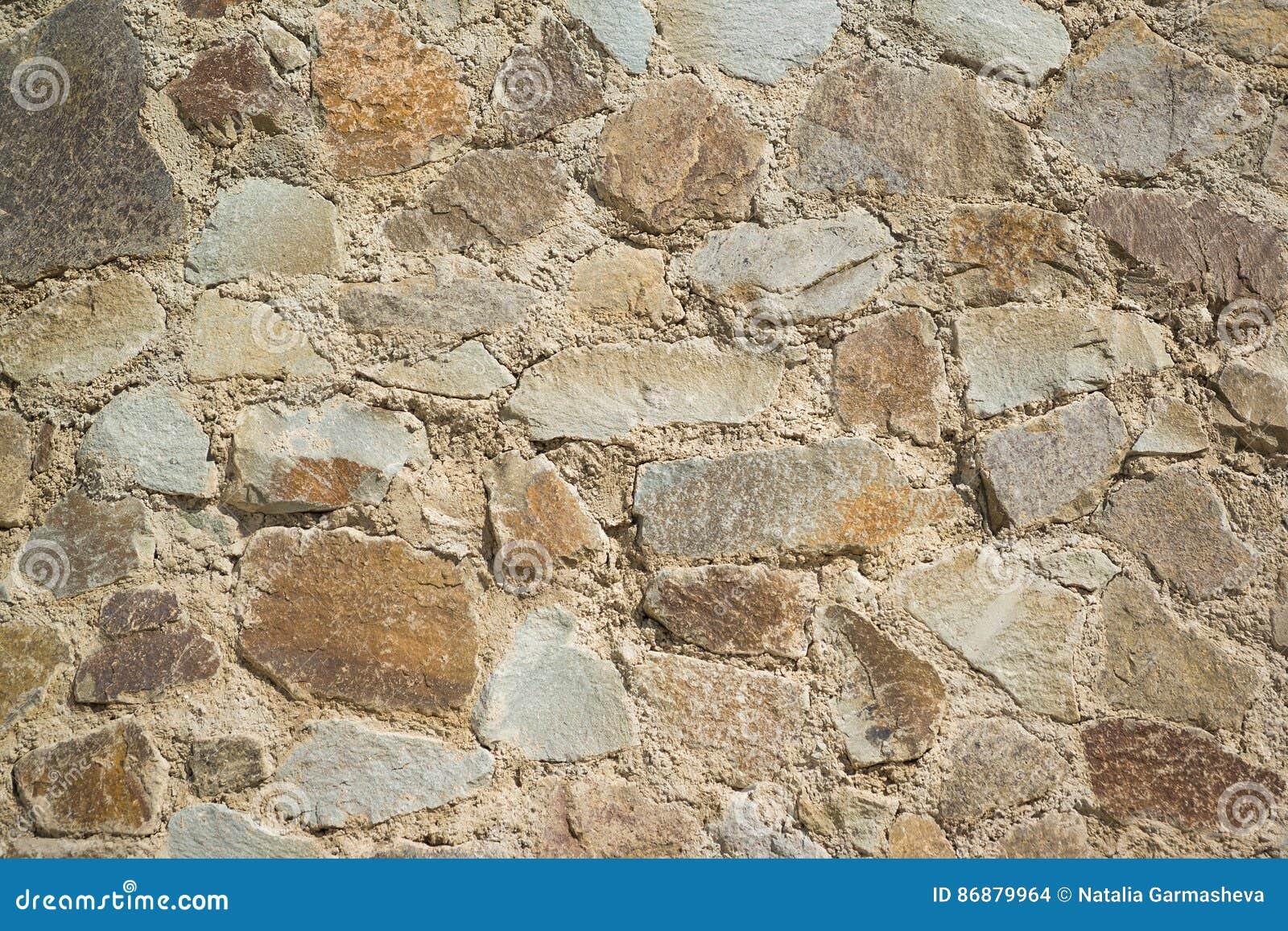 Fondo de la pared construida de la piedra caliza de piedra natural grande foto de archivo - Pared de piedra natural ...