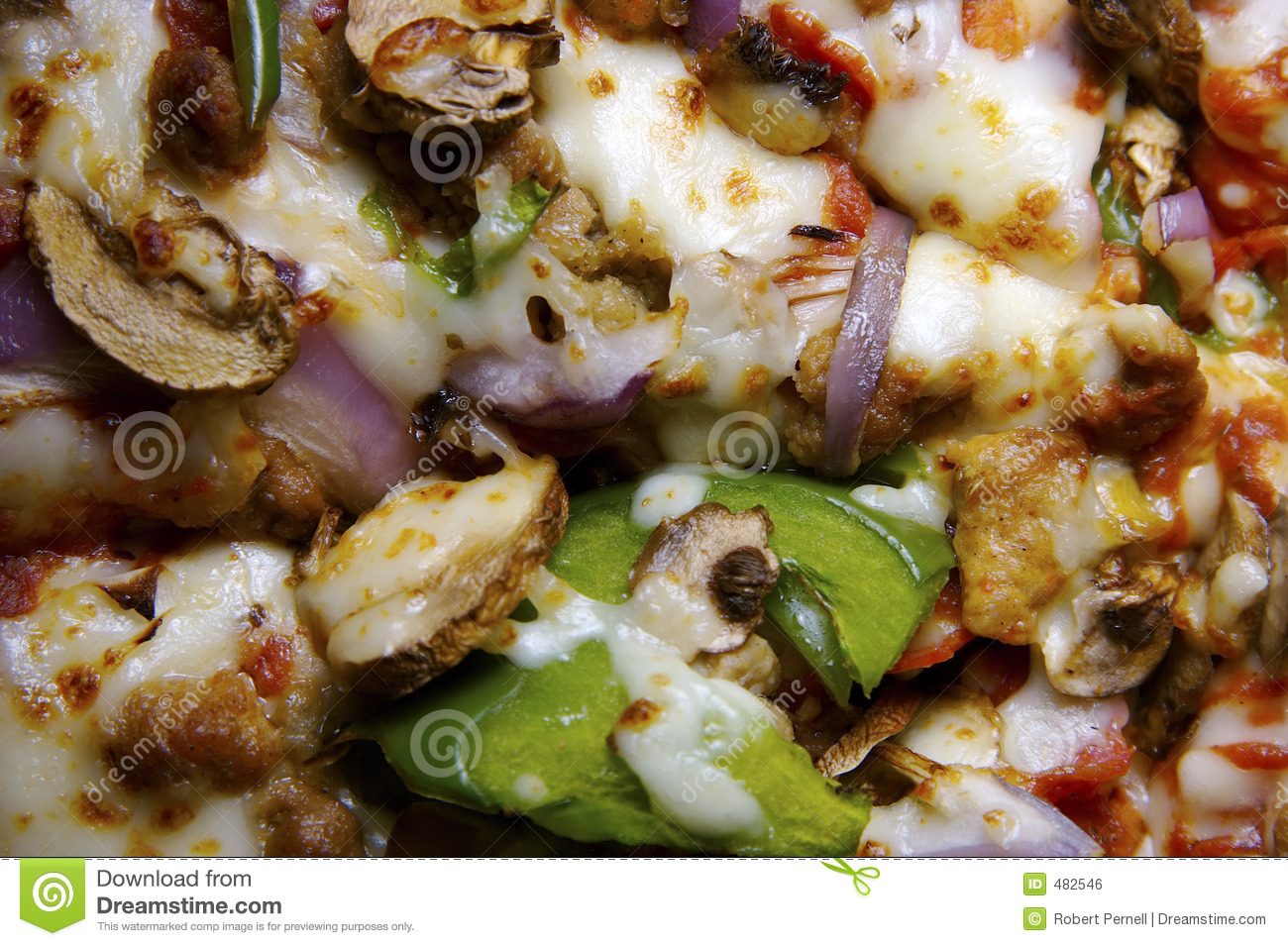 Fondo de la pizza de Everthing