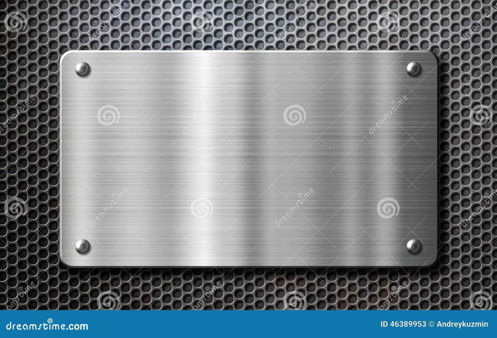 Fondo de la placa de metal del acero inoxidable imagen de - Placa acero inoxidable ...
