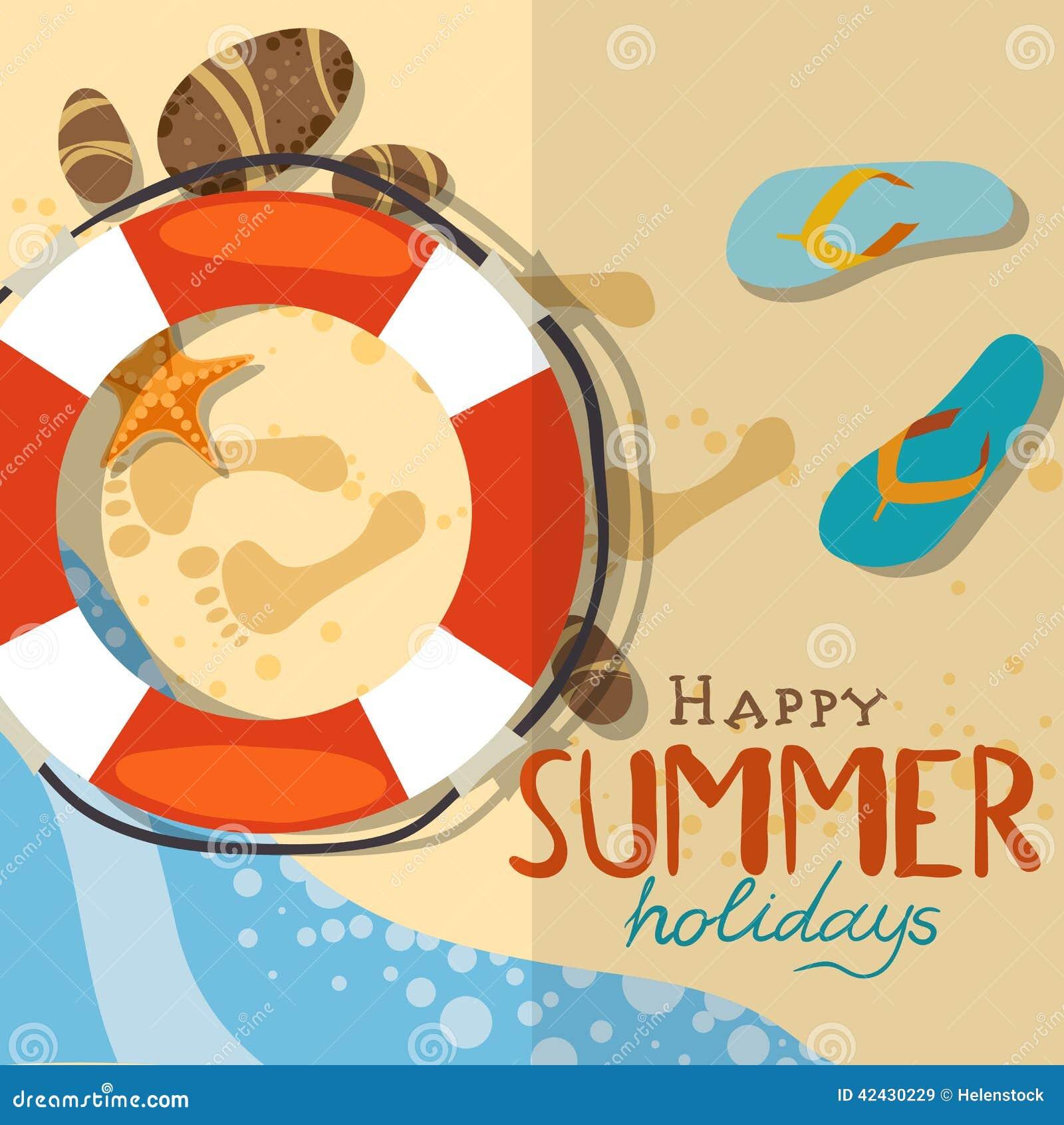 Fondo de la playa del verano