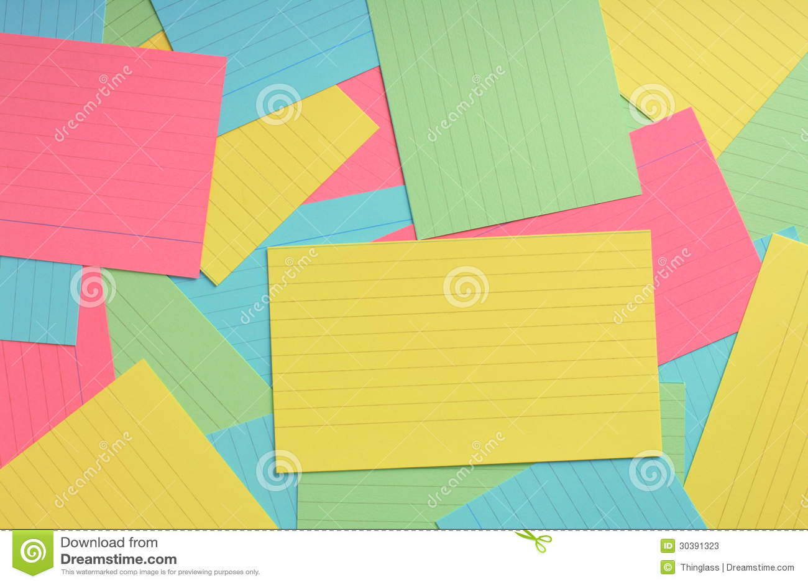 Fondo De La Tarjeta De índice Imagen de archivo - Imagen de amarillo ...