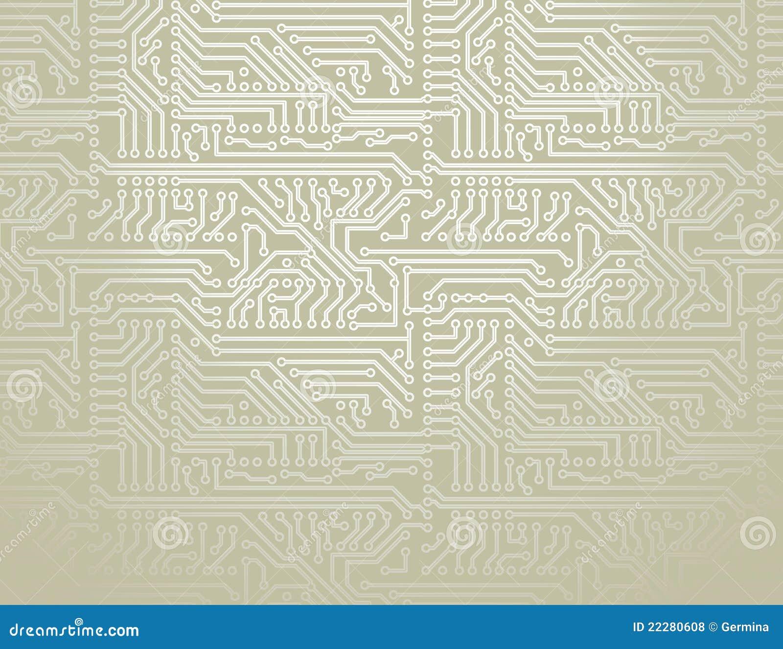 Fondo de la tarjeta de circuitos del vector