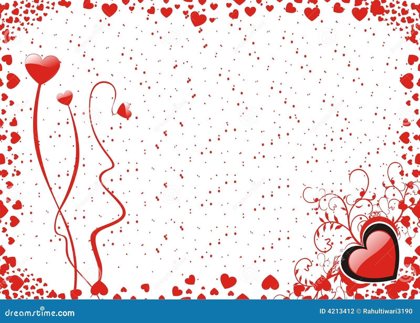 Fondo de la tarjeta del d a de san valent n fotograf a de - Postales dia de san valentin ...