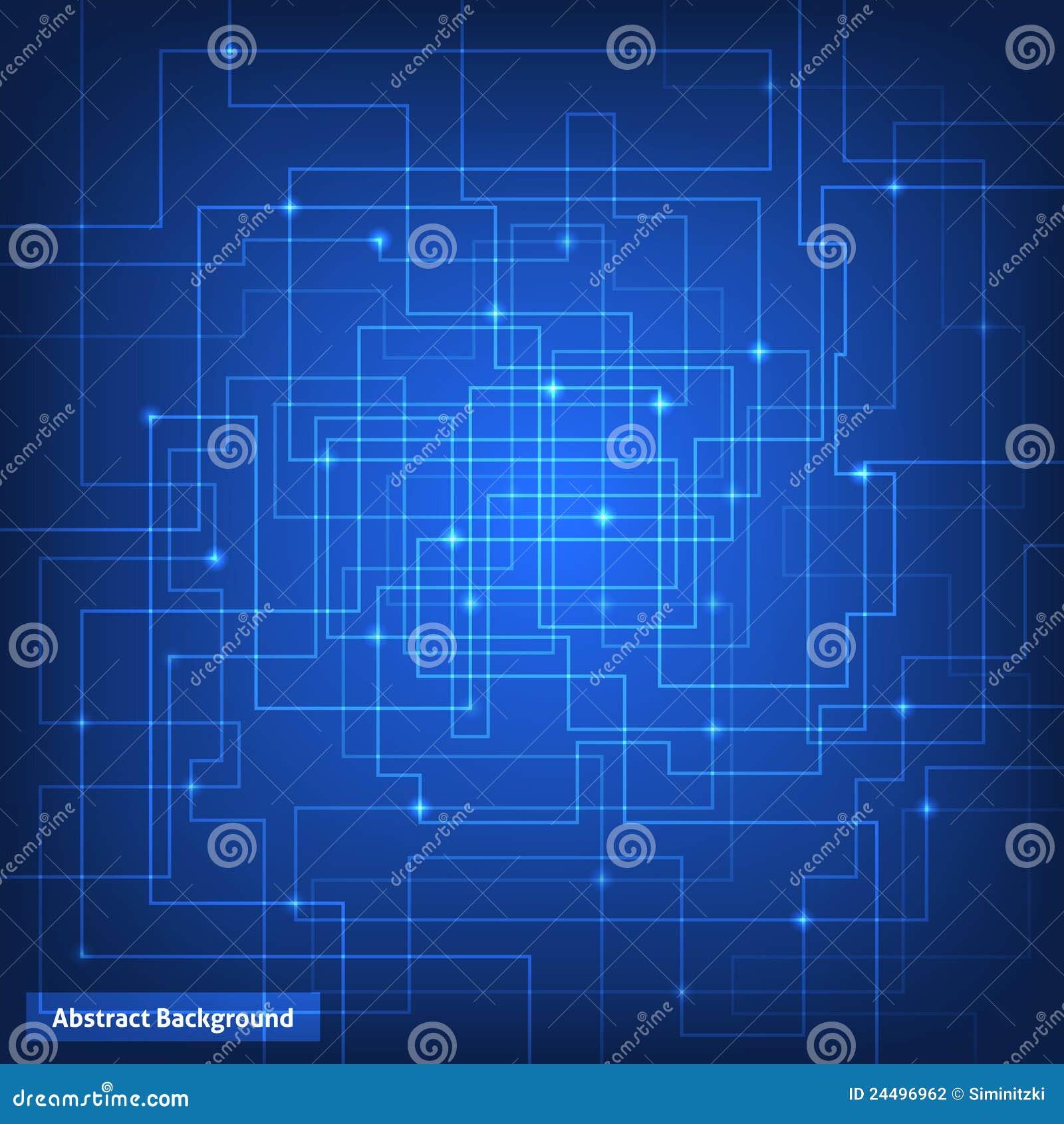 Circuito Virtual : Fondo de la tecnología de circuito virtual ilustración del vector