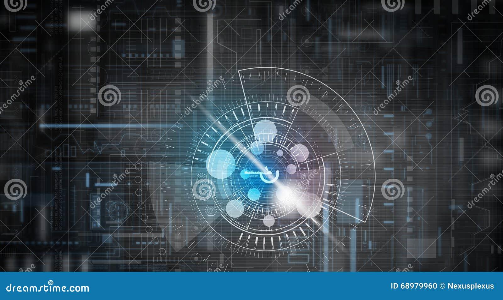 Fondo de la tecnología de Digitaces