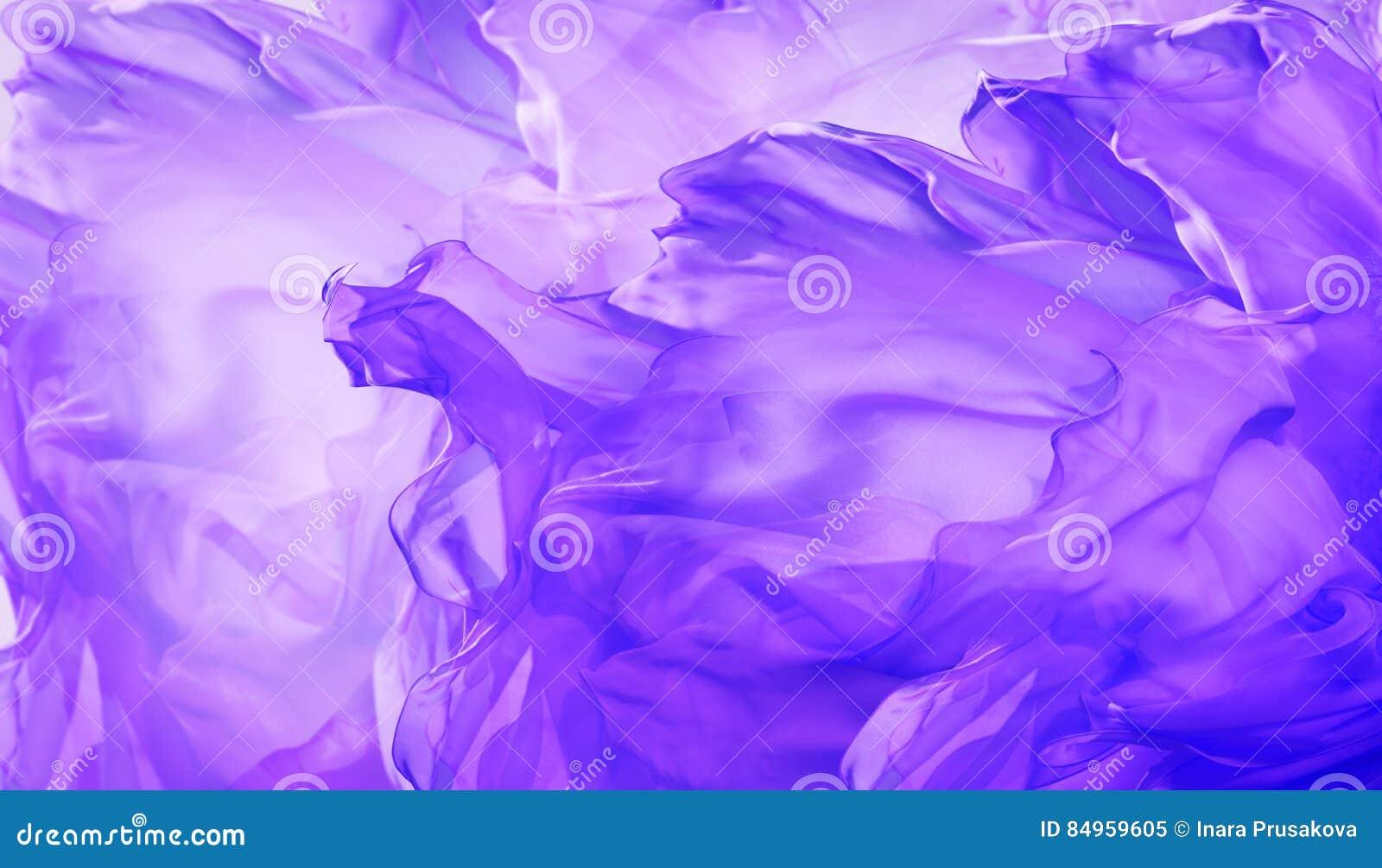 Fondo de la tela de seda, extracto que agita el paño púrpura del vuelo