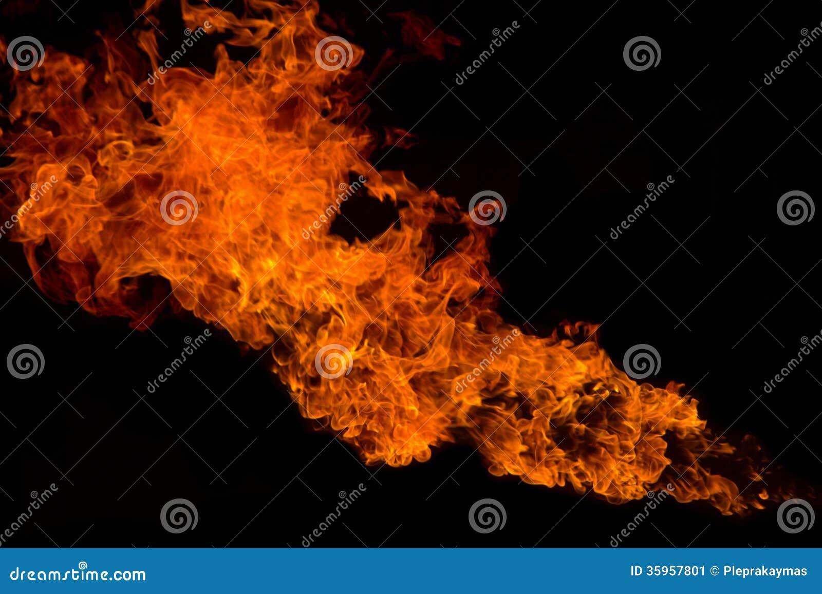 Fondo de la textura de la llama del fuego