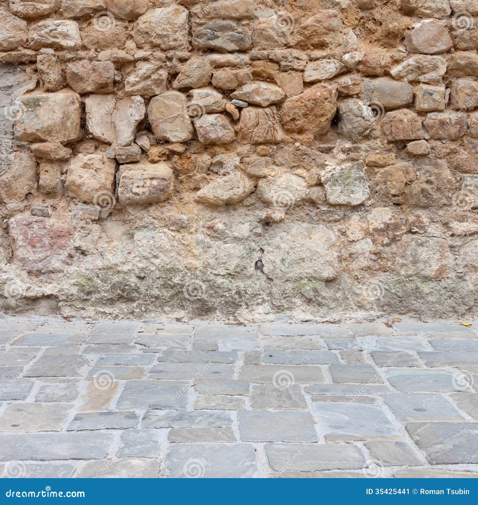 Fondo de la textura de la pared de piedra y del piso for Pared granate