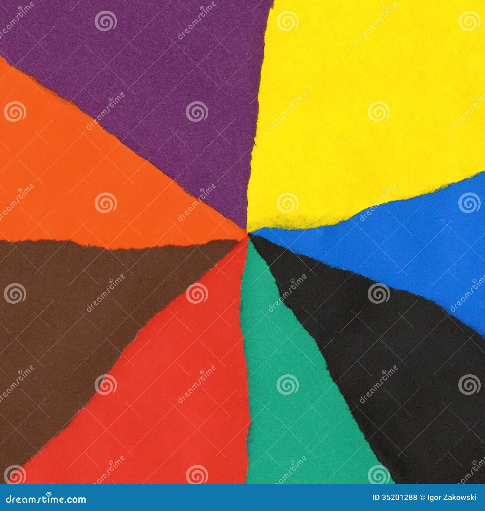 Fondo de la textura de los papeles del color