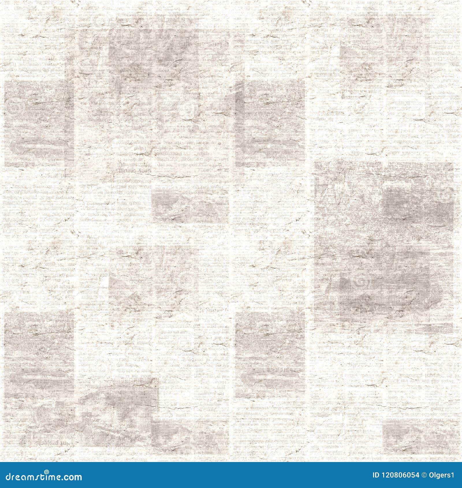 Fondo De La Textura Del Collage Del Periódico Del Grunge Del Vintage