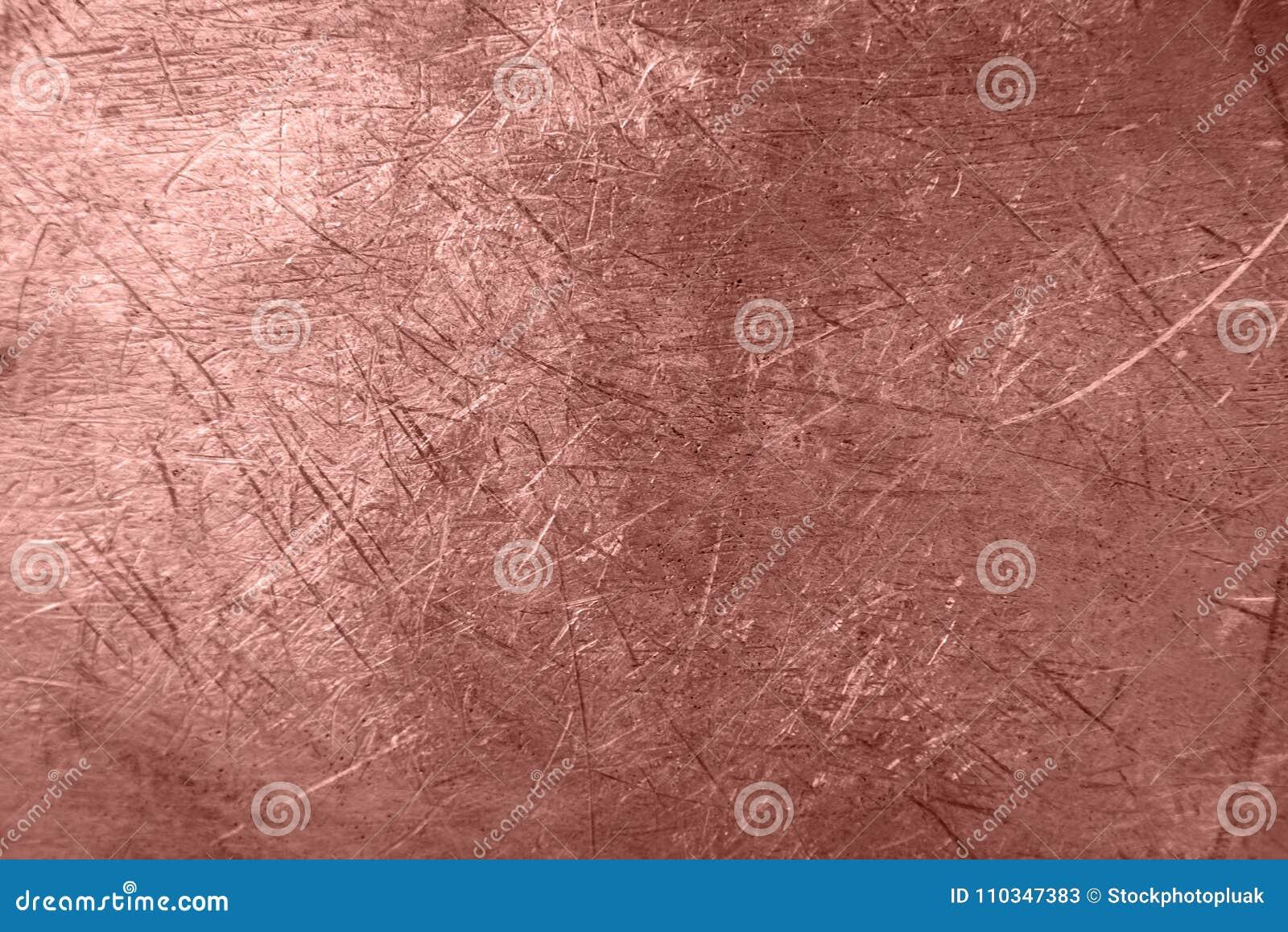 Fondo de la textura del metal de la hoja de Rose Gold