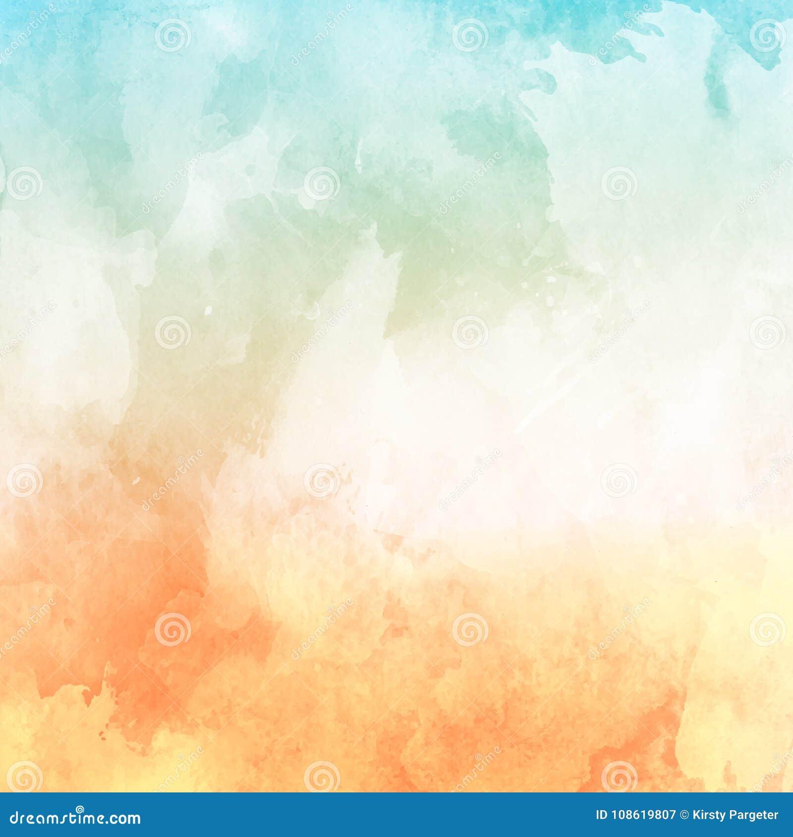 Fondo de la textura del Watercolour en sombras en colores pastel