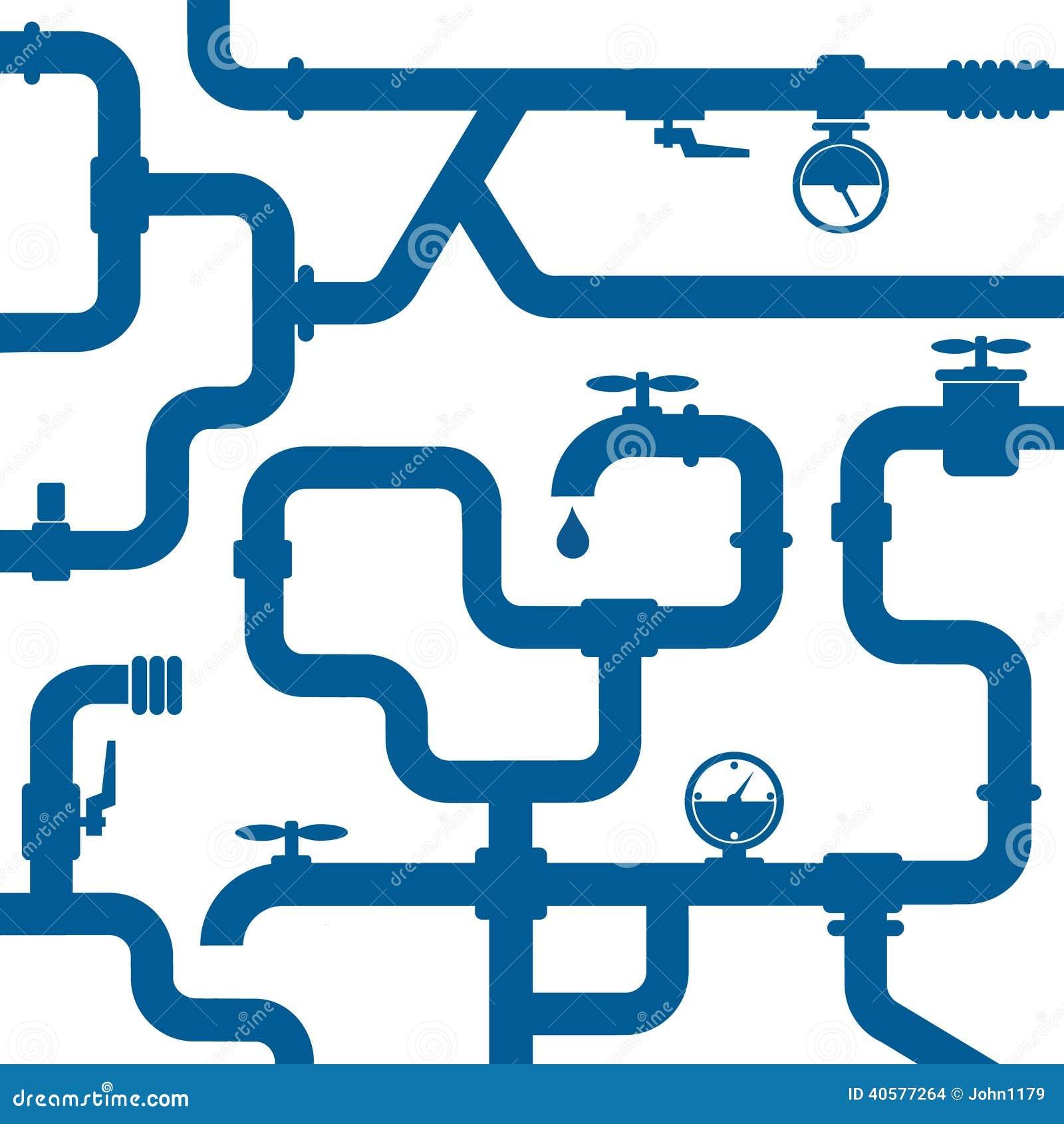 Fondo de la tuber a del agua ilustraci n del vector - Tuberia de agua ...