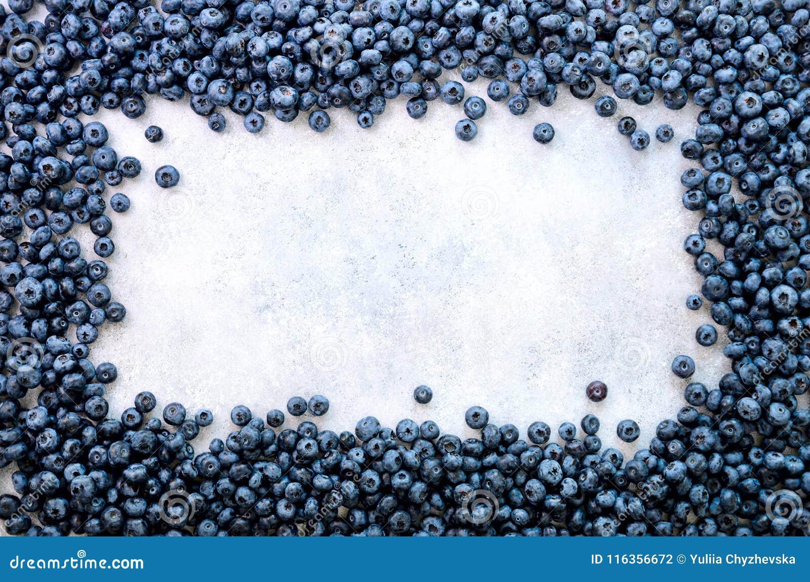 Fondo de las bayas del verano Visión superior Marco de la comida con la mezcla clasificada de fresa, arándano Vitamina, vegano, v