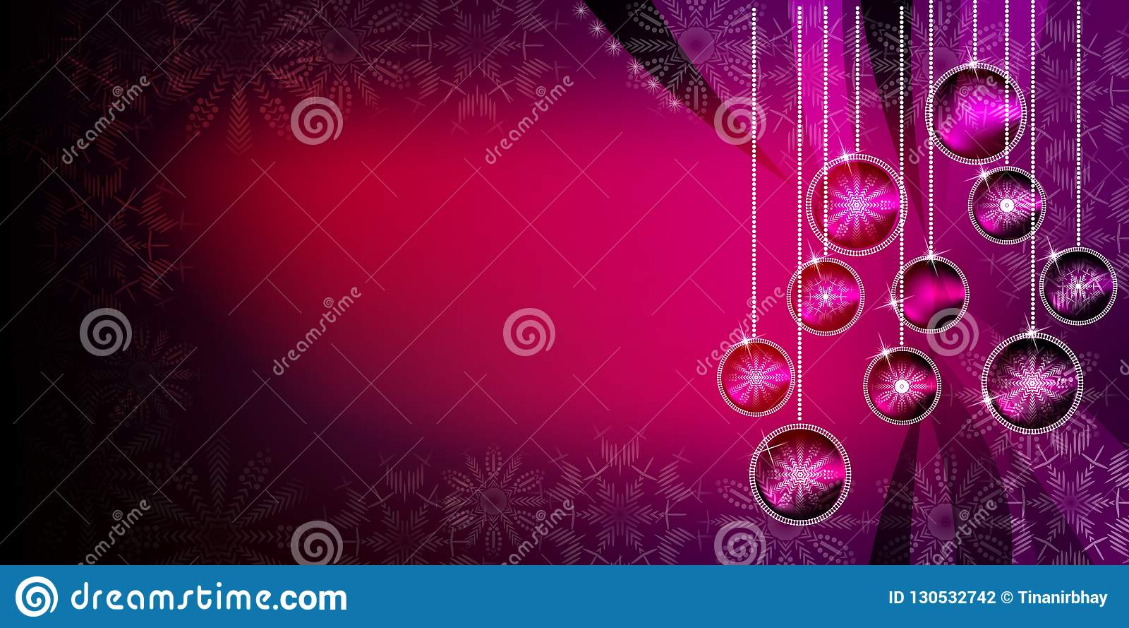 Fondo de las bolas de la Navidad con efectos brillantes de la pendiente y de la falta de definición