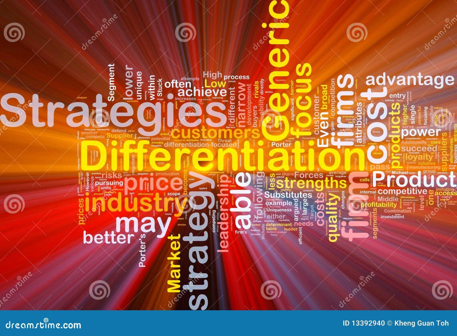 Fondo de las estrategias de la diferenciación