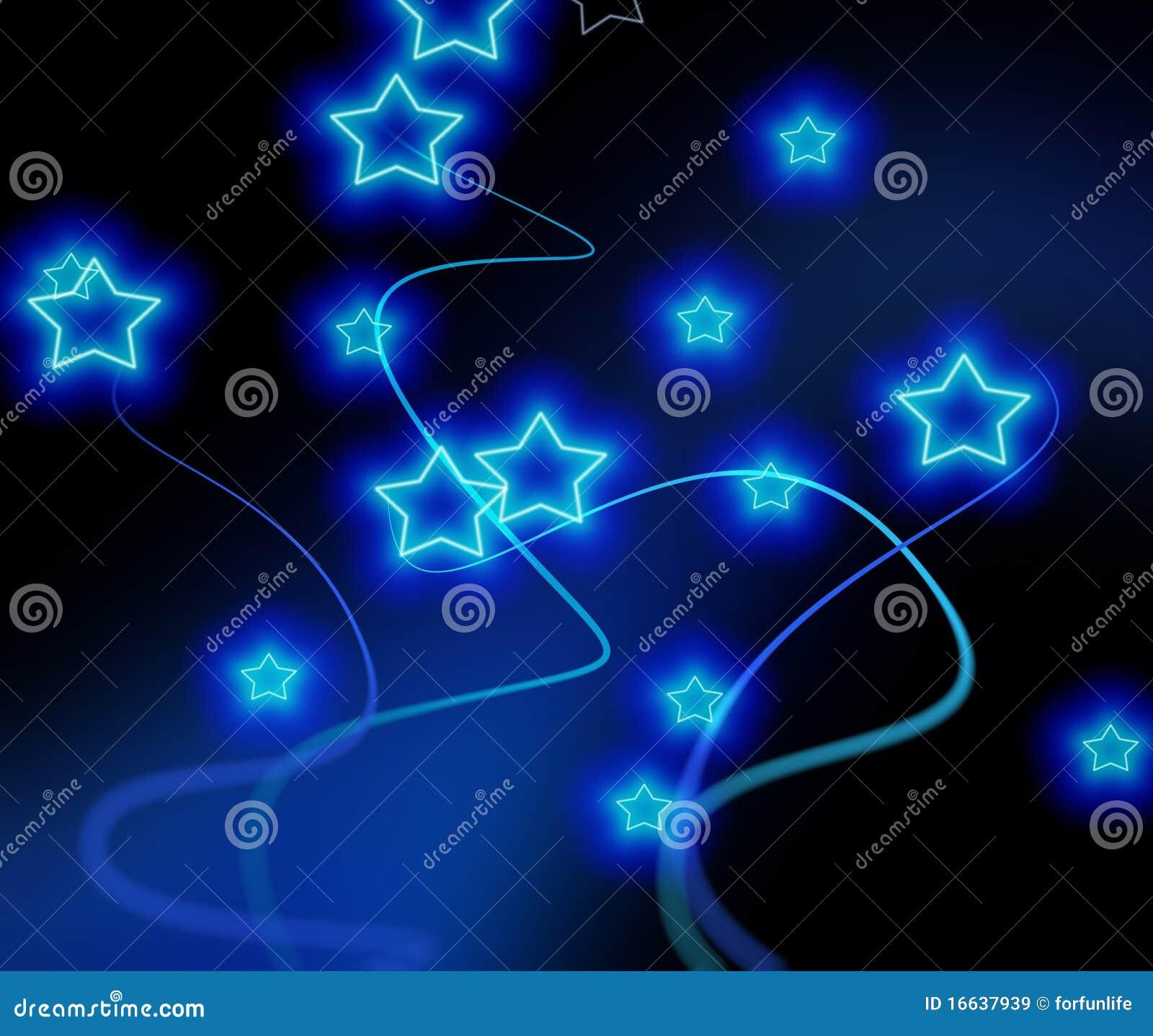 Fondo De Las Estrellas Azules Imágenes de archivo libres