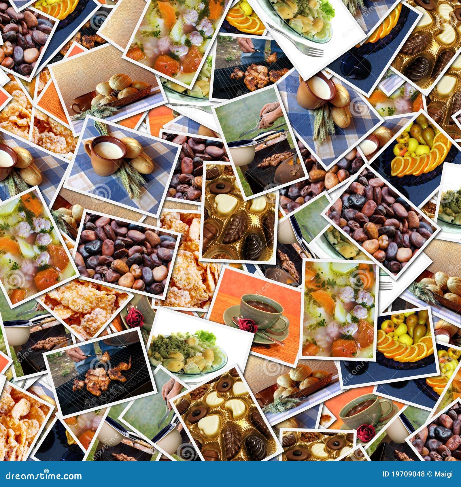 Fondo de las fotos del alimento