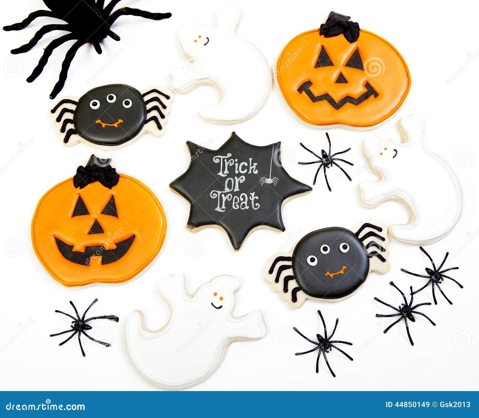 Fondo de las galletas de Halloween
