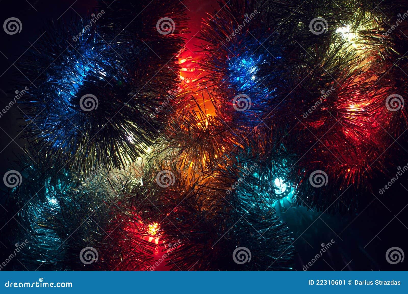 Fondo de las luces de la navidad con varios colores imagen for Luces de colores