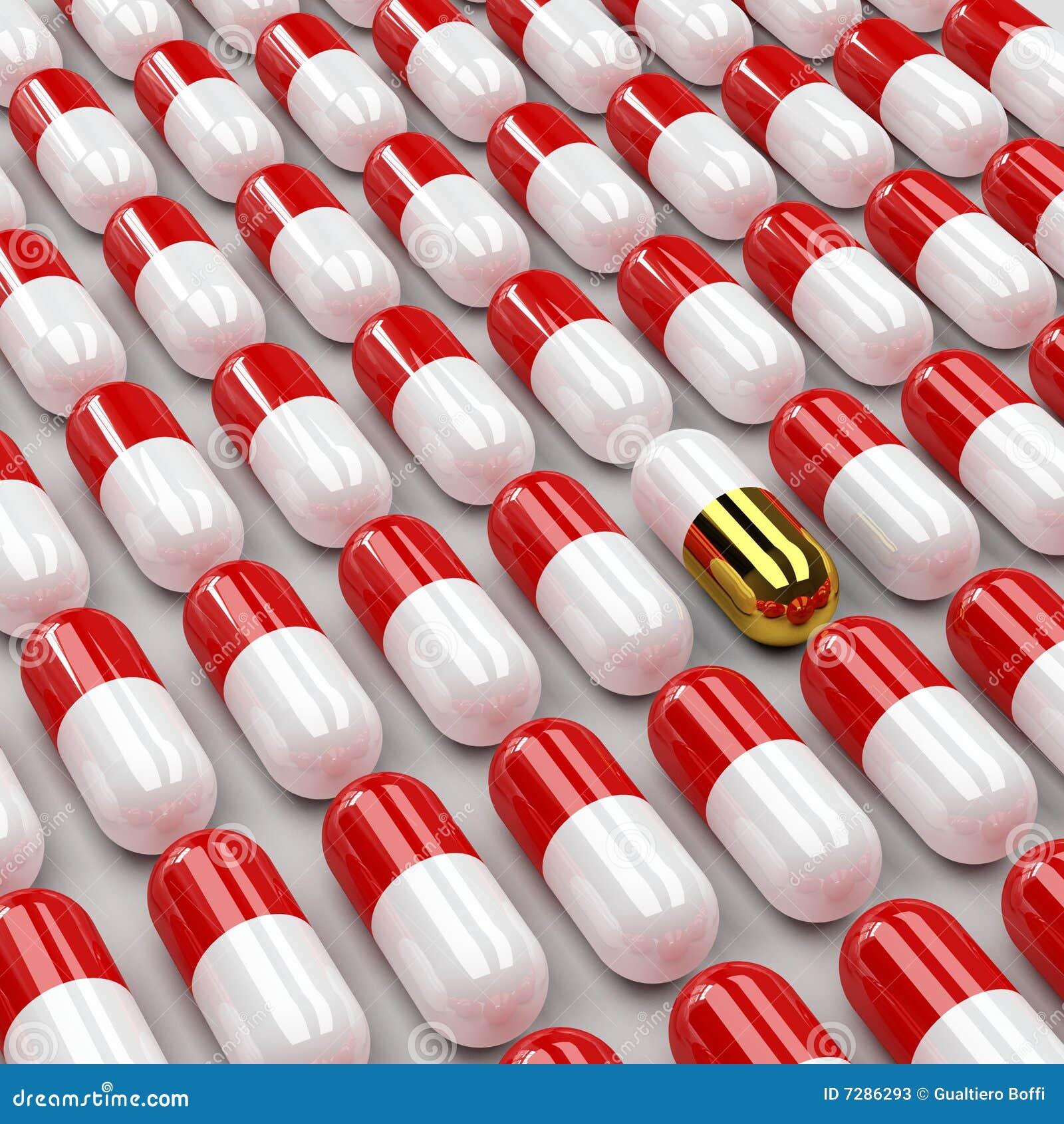 Fondo de las píldoras 3d