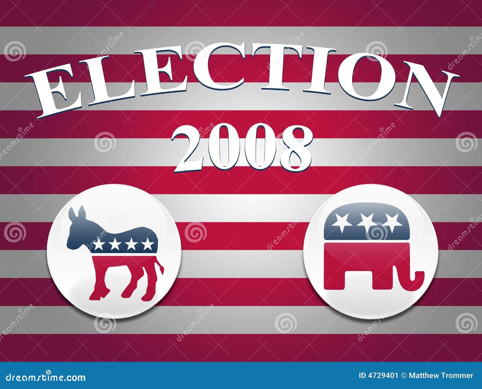 Fondo de las rayas de la elección 2008