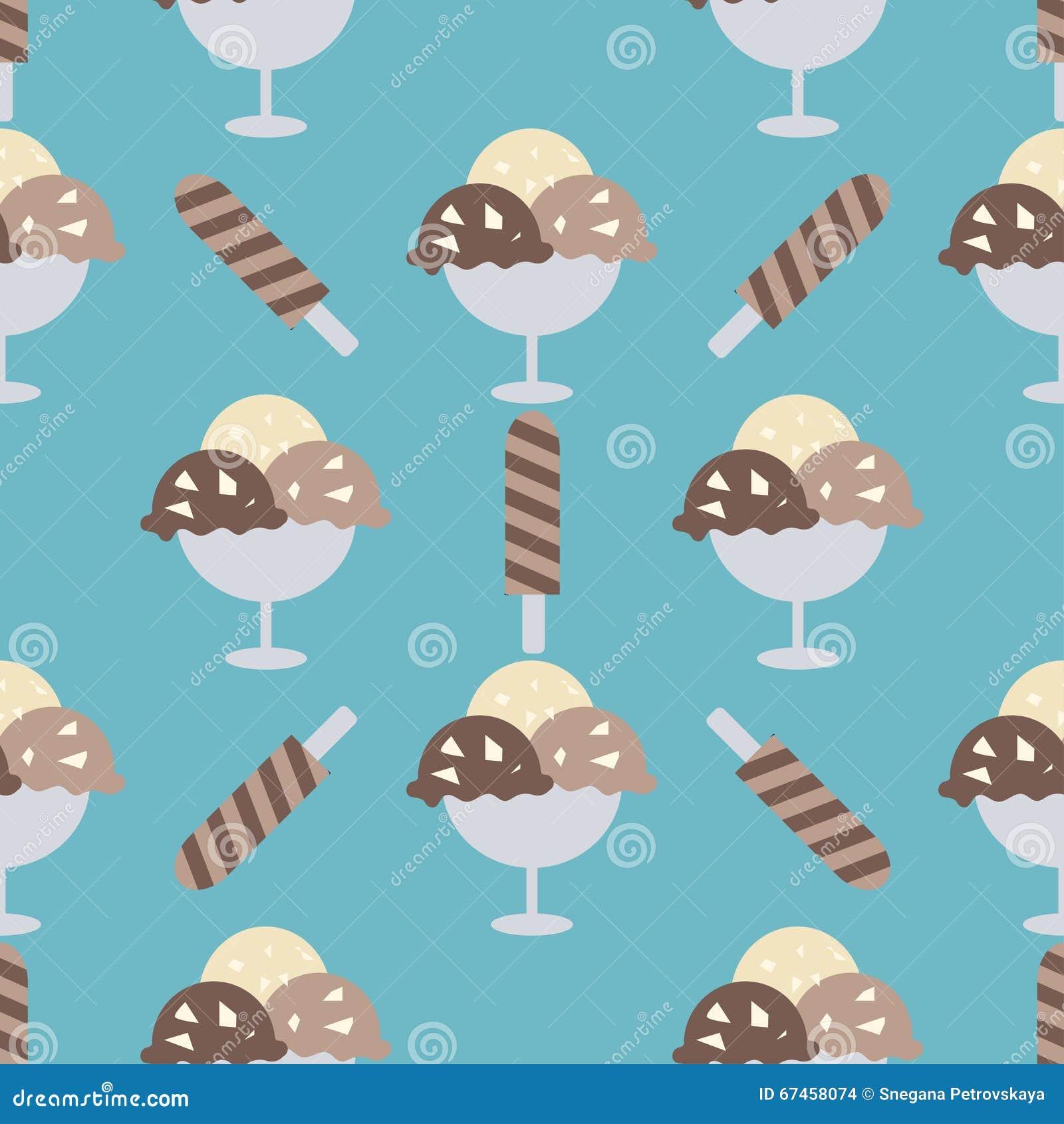 Fondo de los conos de helado