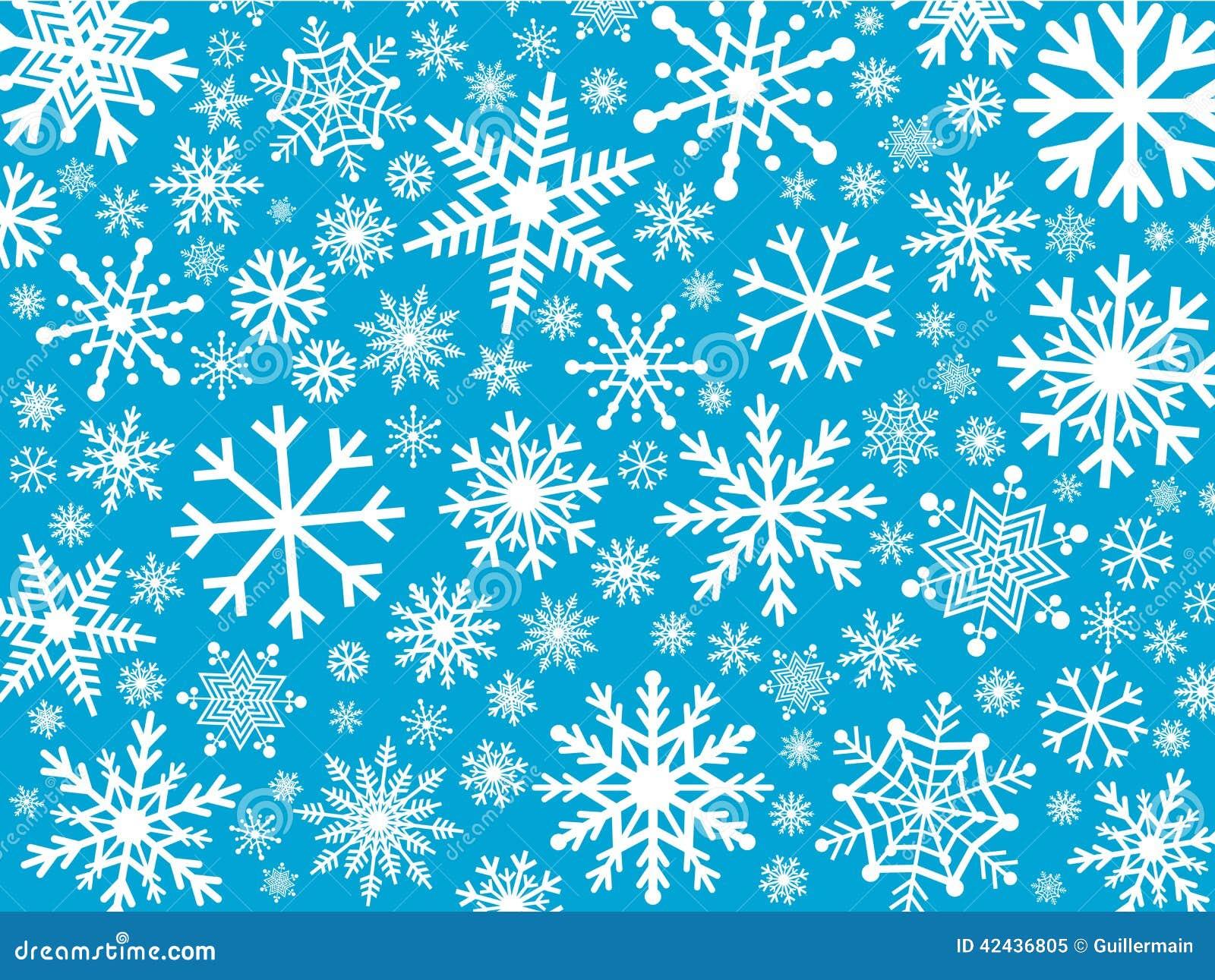 Fondo de los copos de nieve
