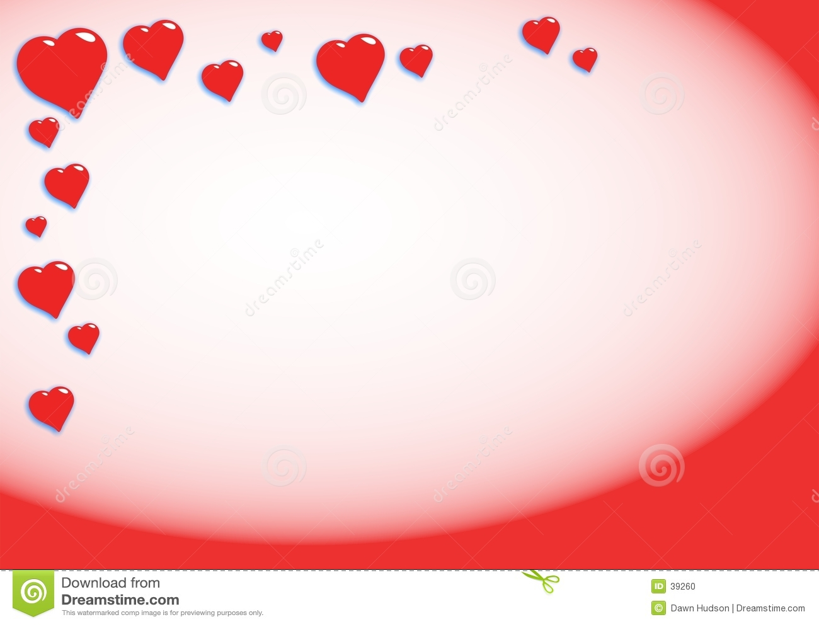 Fondo de los corazones