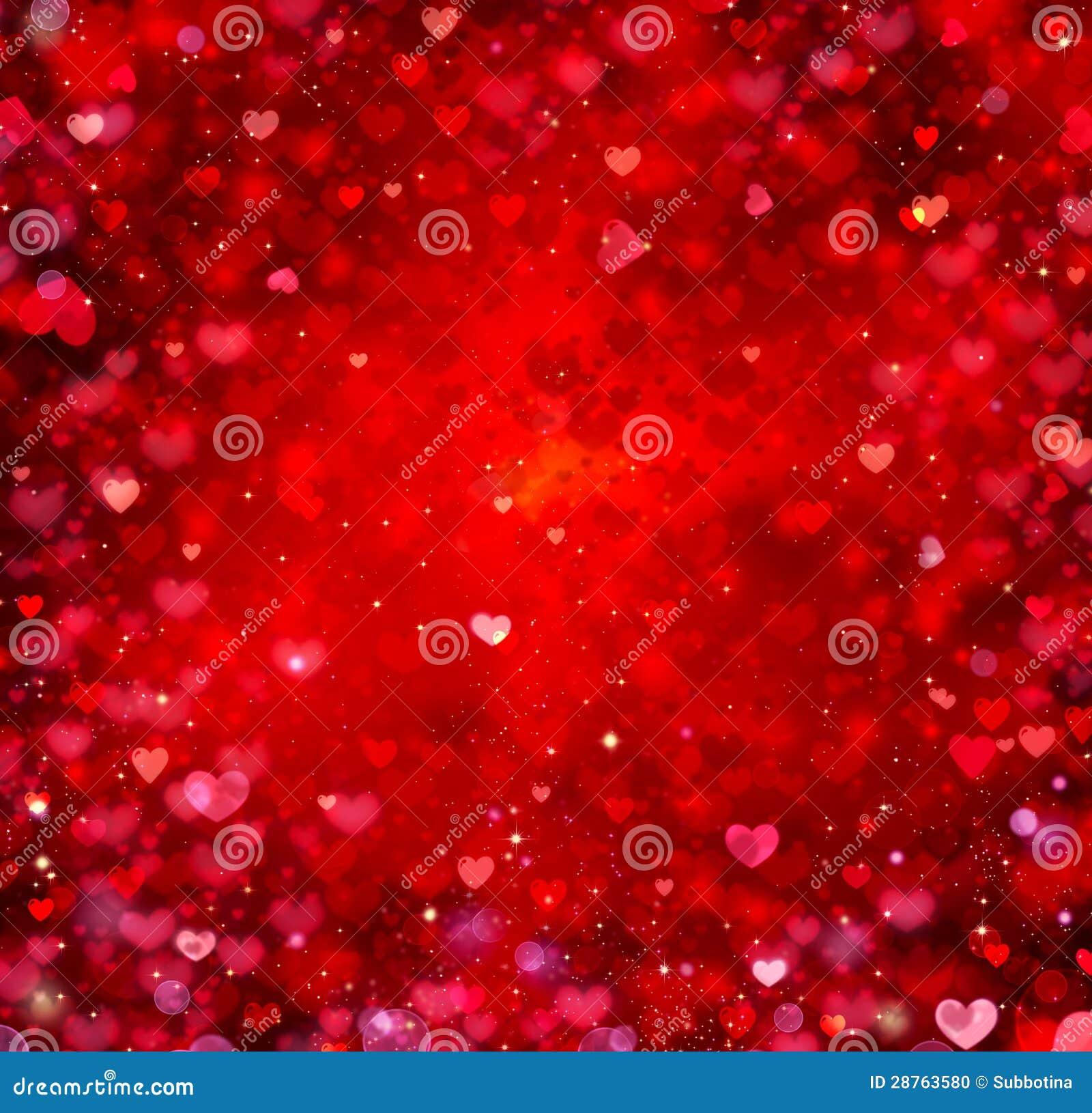 Fondo de los corazones de la tarjeta del día de San Valentín