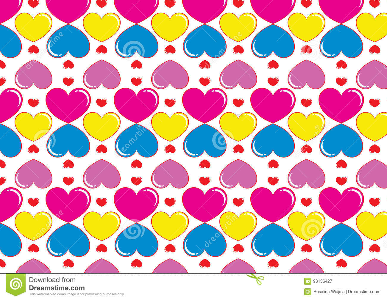Photo Collection Corazones De Colores Fondo