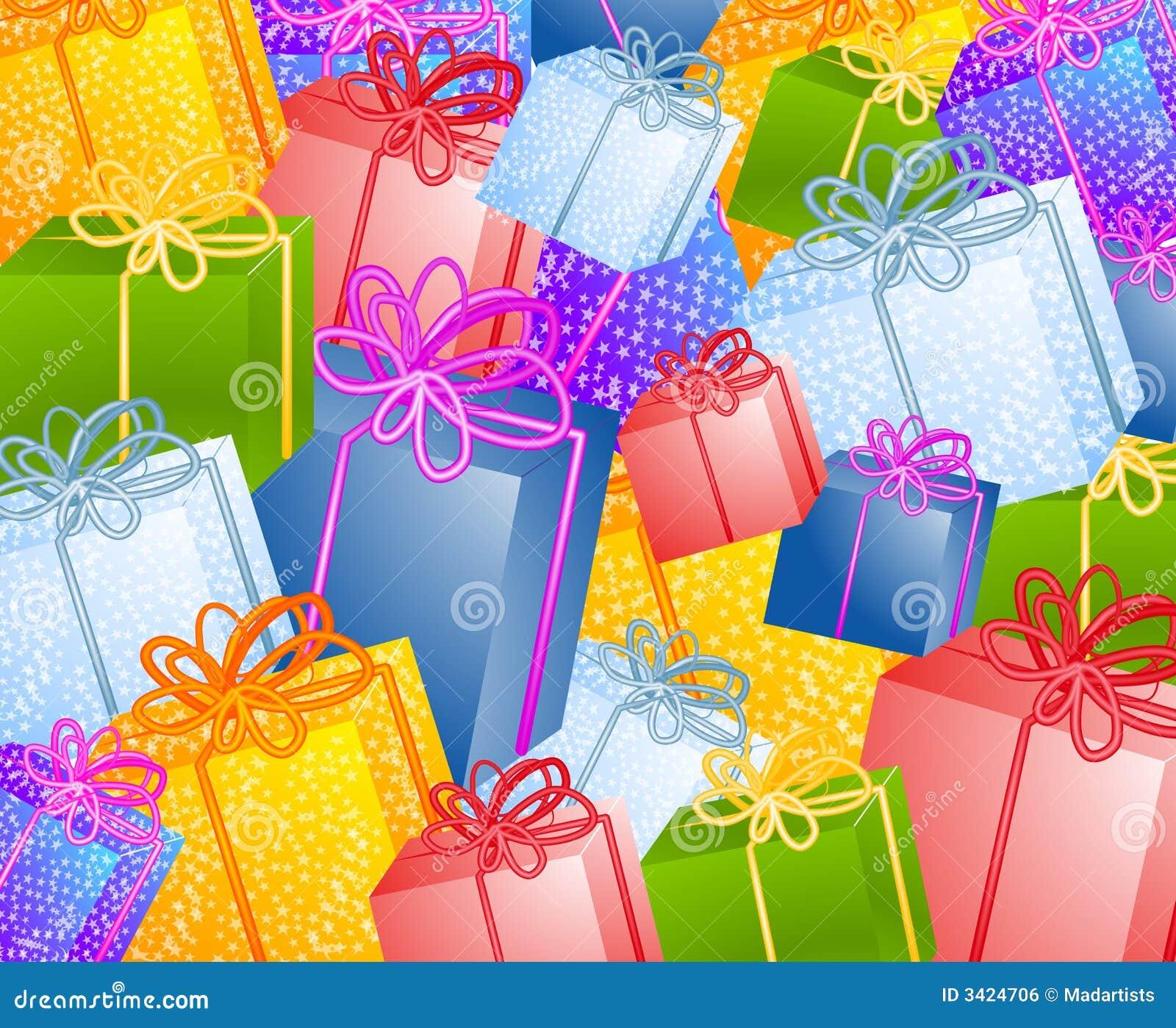 Fondo de los regalos de la Navidad